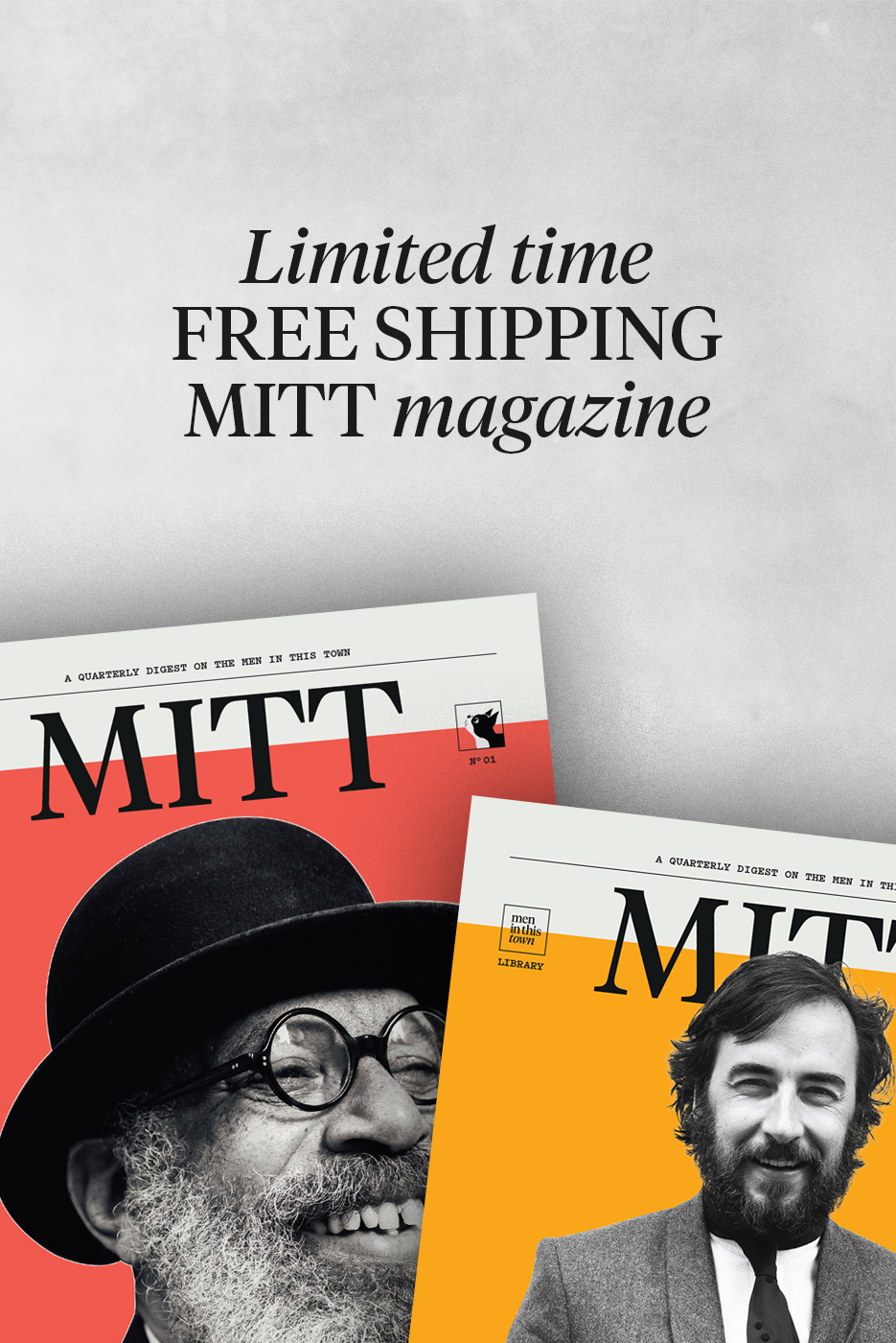 Hey everyone, for a  limited time ,   The MITT Mrkt   has   free worldwide shipping   on issues 1 and 2 of   MITT   magazine! Head on over and get yourself some summer or winter reads. ;)