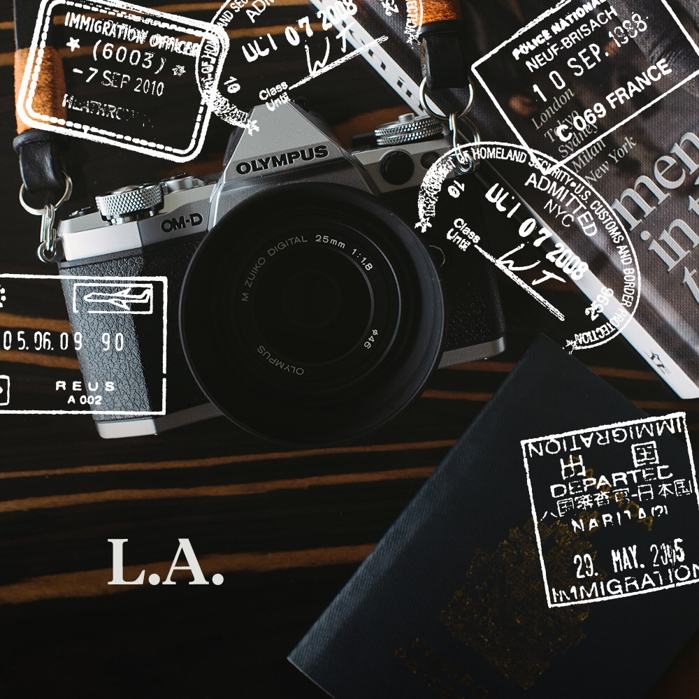 Final stop, L.A.! Follow my journey on Instagram captured with my Olympus OM-D EM5II.
