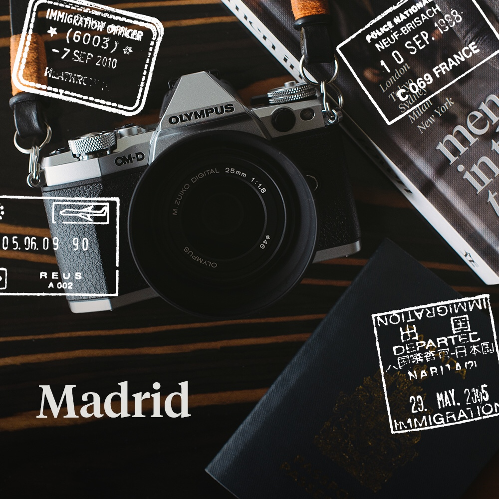 Three down, three to go. Hola Madrid! Follow my journey on Instagram captured with my Olympus OM-D EM5II.