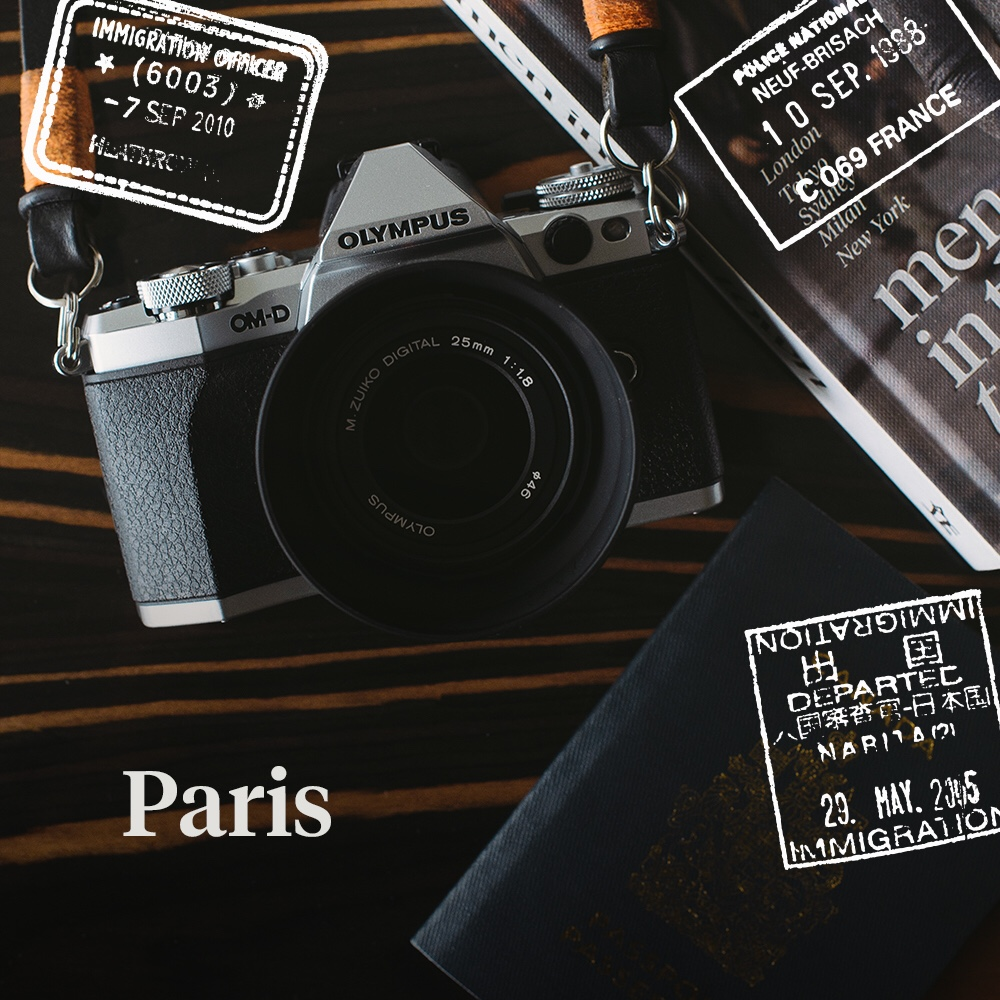 Bonjour Paris! Follow my journey on Instagram captured with my Olympus OM-D EM5II.