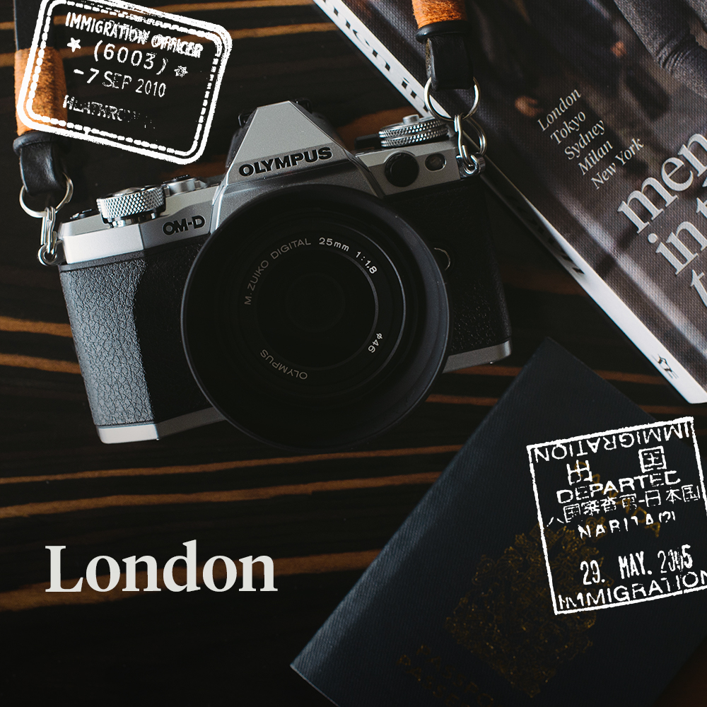 Hello London! I'll be capturing all of your beauty on Instagram with my Olympus OM-D EM5II.