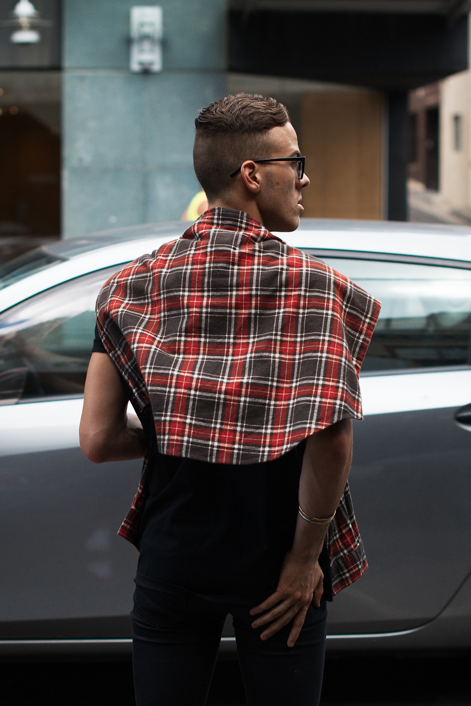 Summer plaid.   Similar look:   Fjallraven Plaid Shirt  .