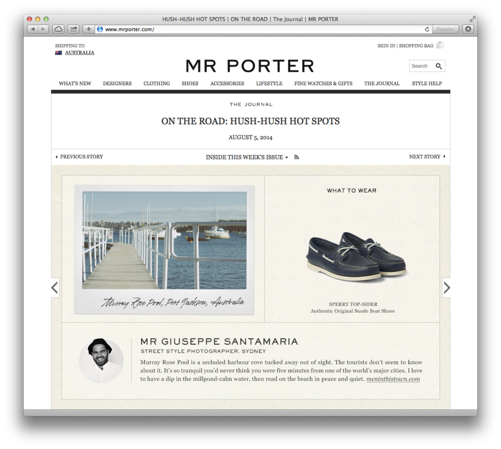 That time my mug appeared on Mr. Porter. Great thrill, thanks guys!