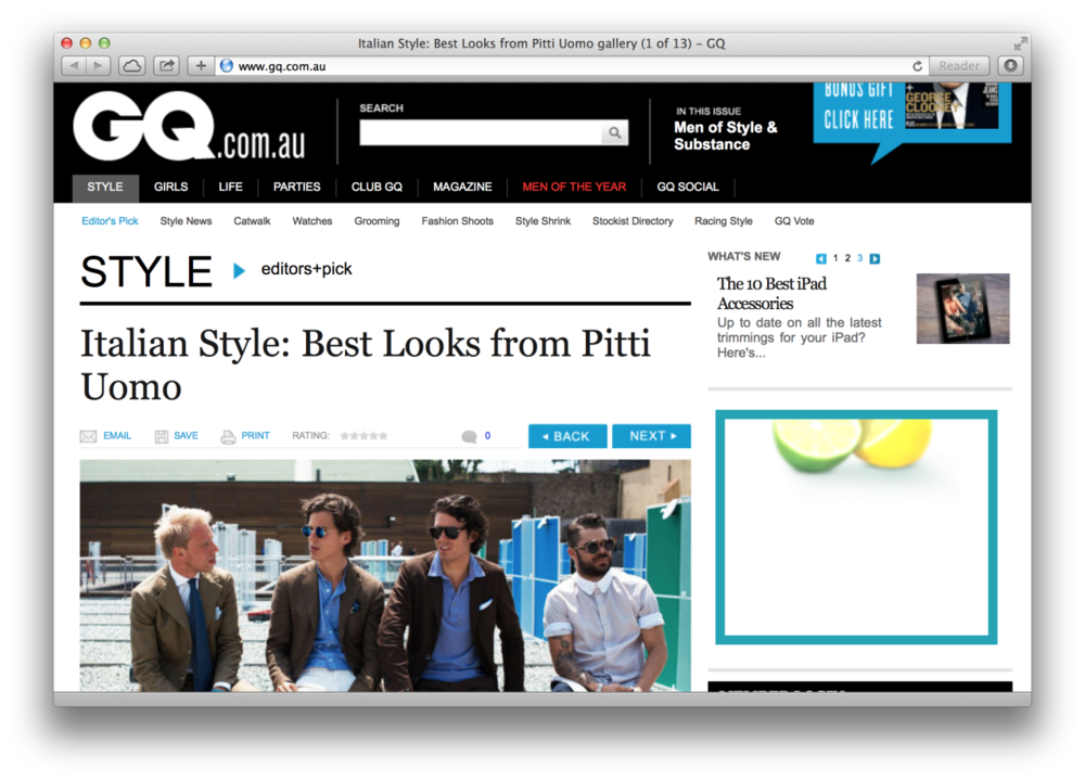 The best street style from the Pitt Uomo over at GQ.com.au.