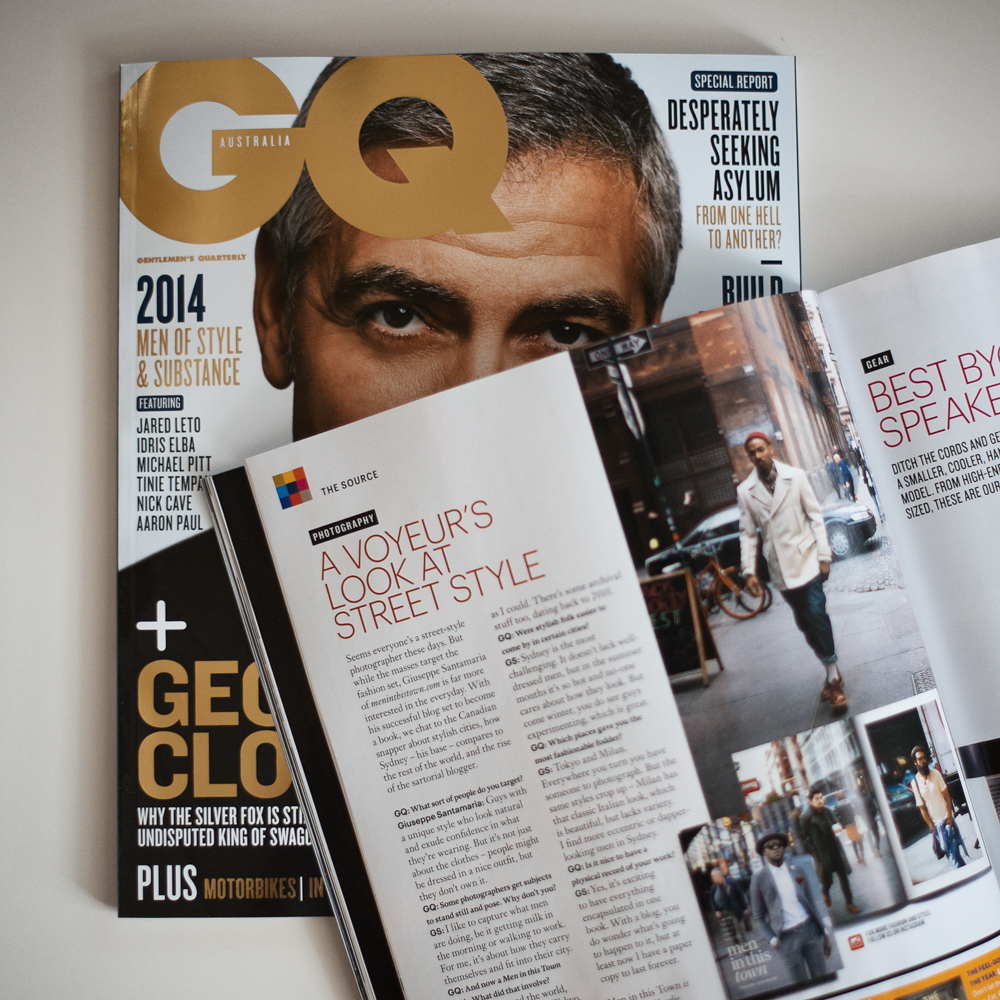 Thank you x100 to GQ Australia for featuring the Men In This Town book in the June/July issue. Beyond excited!  If you haven't done so already, you can pre-order the book here.