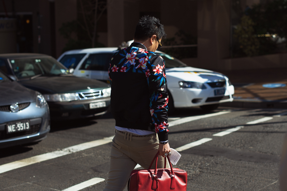 Spring blooming.   Similar look:   Reclaimed Vintage Varsity Jacket with Floral Sleeves   and   Moncler Floral-Print Puffer Jacket  .