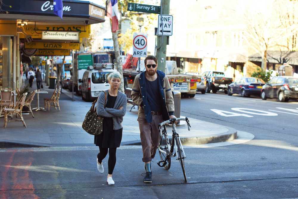 Street walking.