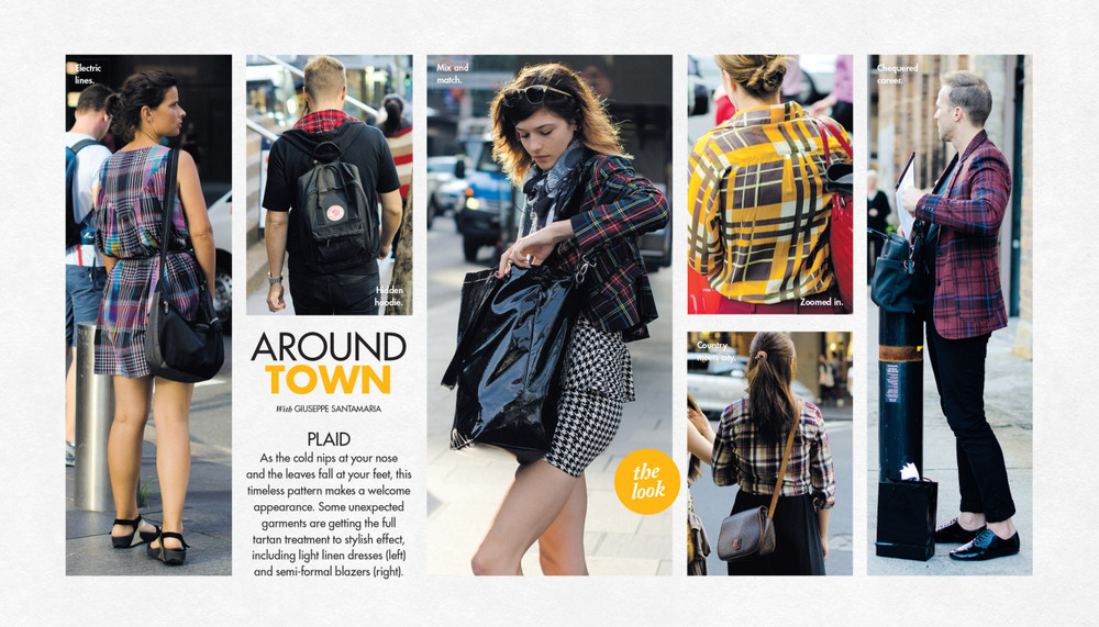 Plaid Around Town this past Sunday in The Sun-Herald's Sunday Life Magazine.