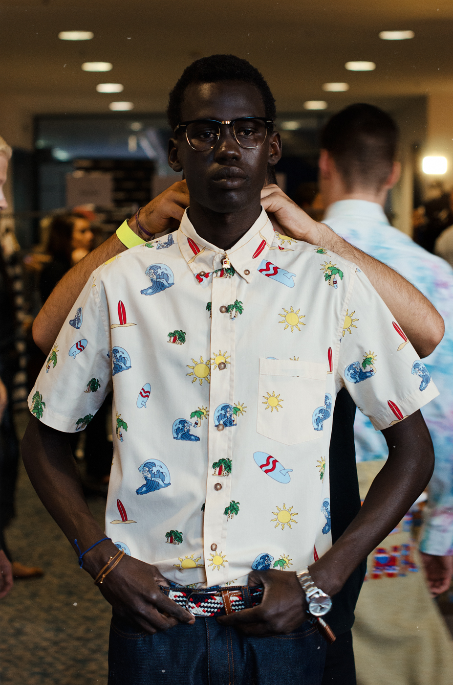Backstage at Vanishing Elephant S/S 13/14.