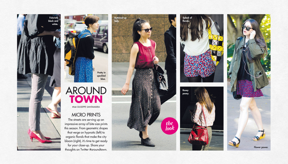 Micro prints Around Town in The Sun-Herald's Sunday Life Magazine this past Sunday.
