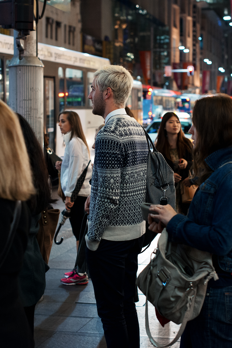 Cooler nights ahead.   Similar look:   Jack Spade Fair Isle Sweater  .