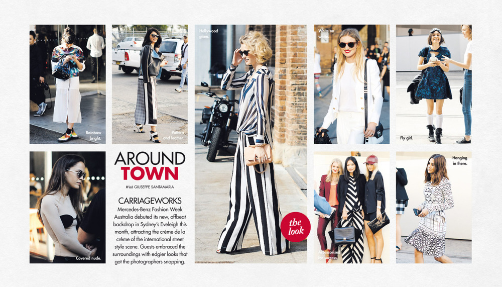 A round up of MBFWA in this past Sunday's Around Town in The Sun-Herald's Sunday Life Magazine.