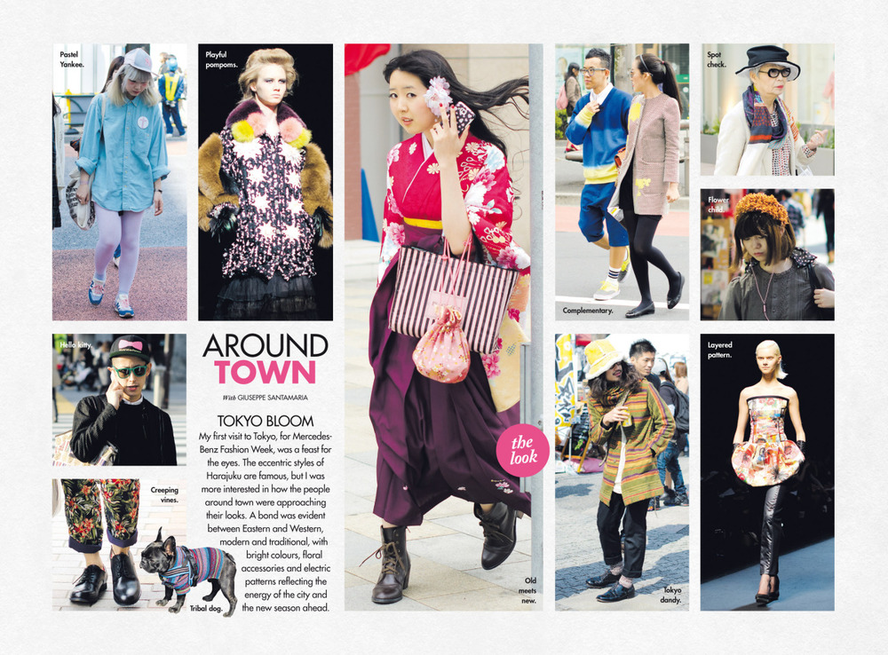 Sunday's Around Town, Tokyo style, in The Sun Herald's Sunday Life Magazine.