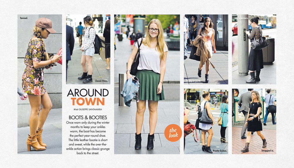 Around Town   in The Sun-Herald's  Sunday Life Magazine .