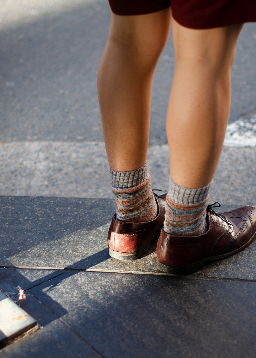 Sock hop. Similar look: John Smedley Stern Striped Merino Wool-Blend Socks.