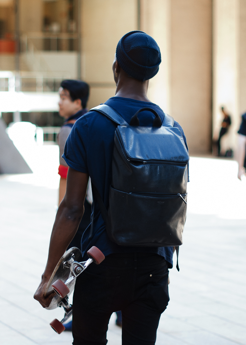 Leather rucksack.   Similar look:   Vivienne Westwood Leather Rucksack  .