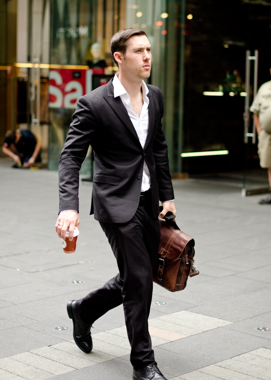 On the run on Pitt Street.