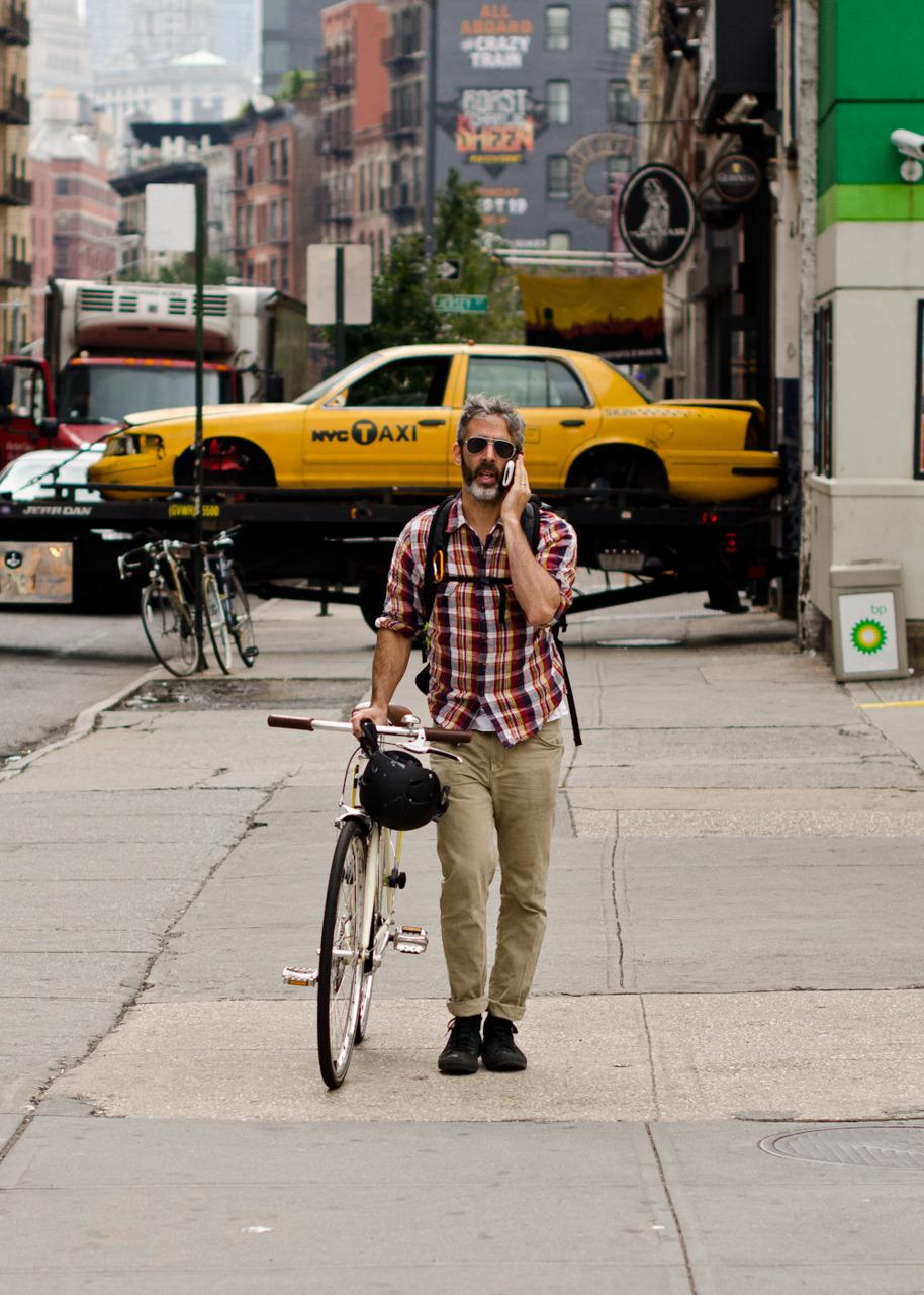 NYC biker.