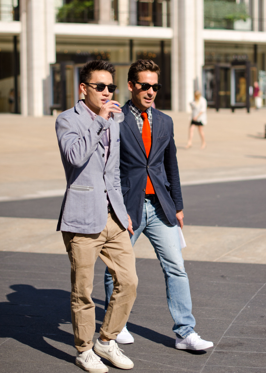 Preppy outside Lincoln Centre.
