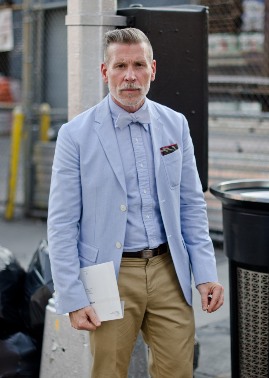 Nickelson Wooster, outside Milk Studios.