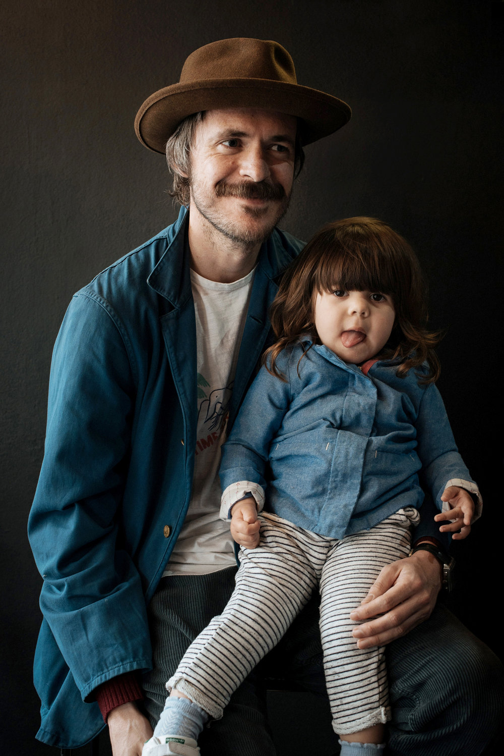 Adam Walmsley and his daughter Ren, captured at The MITT Mrkt. in the lead up towards Father's Day here in Australia.