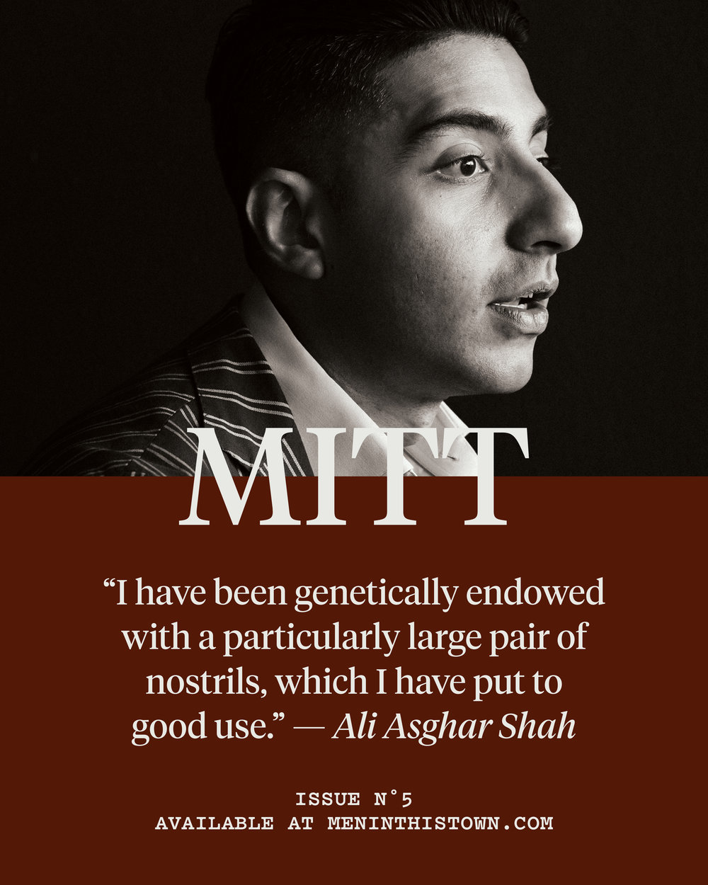 MITT magazine contributor Ali Asghar Shah will be joining our MITT Studio Talks next week, celebrating the launch of issue five, which is now available to pre-order at The MITT Mrkt.