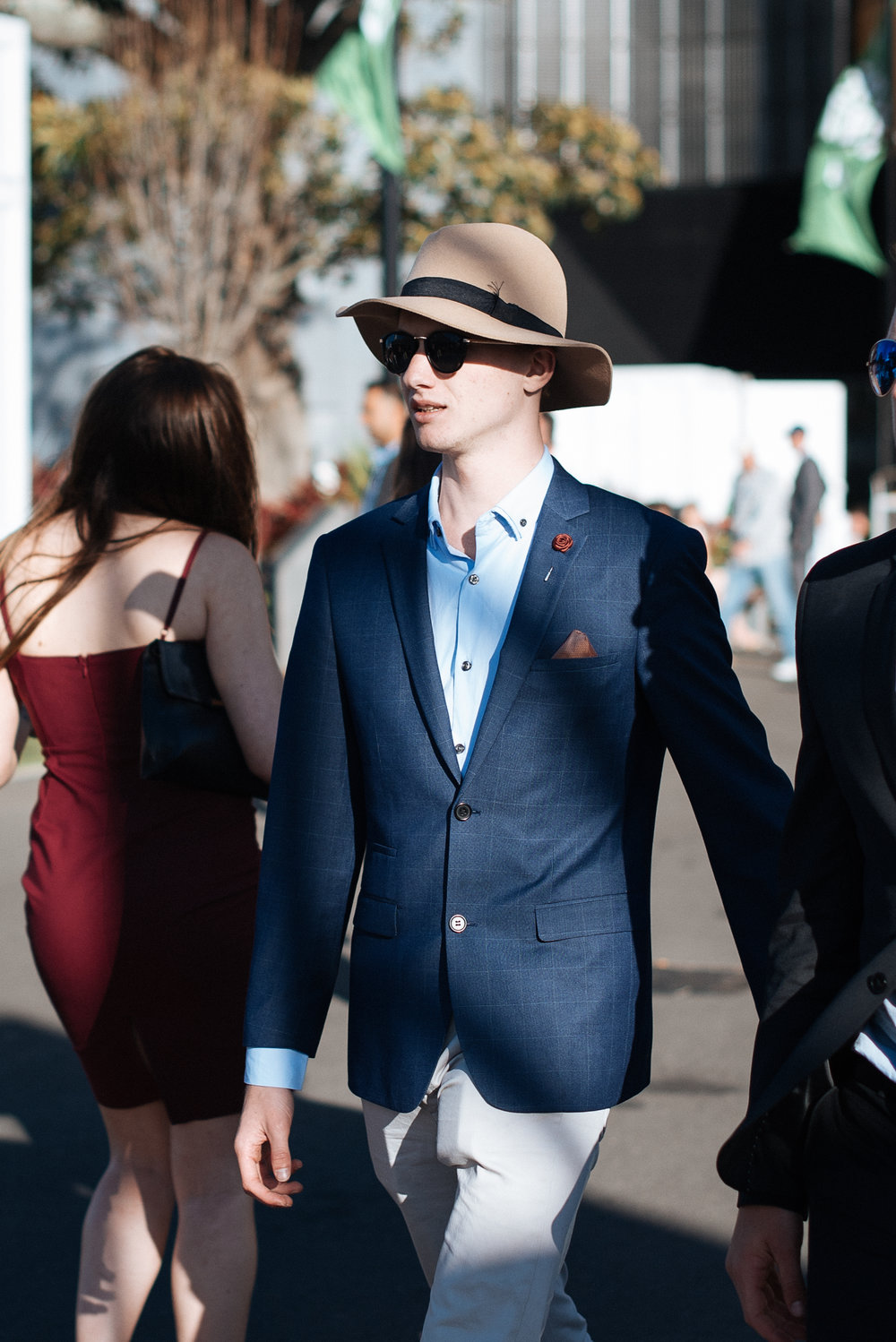 I had the opportunity to attend the races at the Sydney Spring Carnival at Royal Randwick this past weekend and capture Sydney in full bloom. Specifically the men bringing their millinery game on, theme being straw hats, with the exception of a few just really great hats.