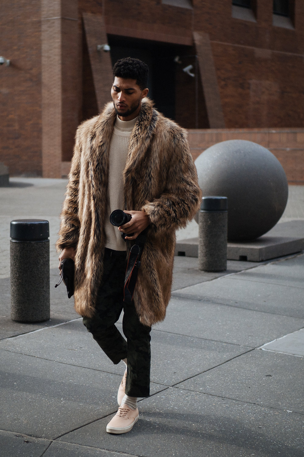 Hopefully faux at NYFW:M, captured on the Olympus OM-D E-M1 Mark II.