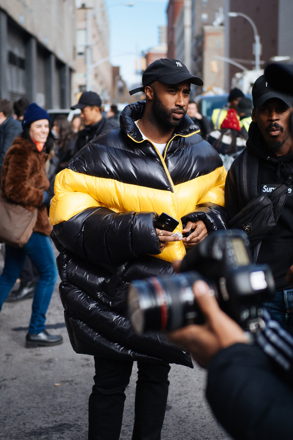 Missy at NYFW:M, captured on the  Olympus OM-D E-M1 Mark II .