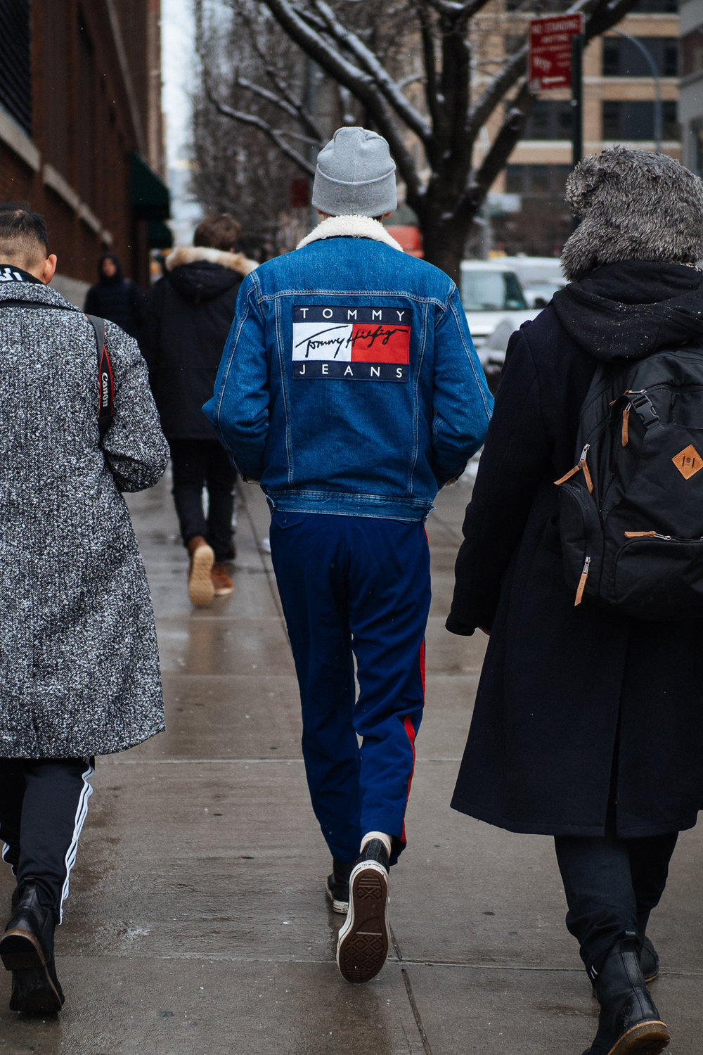 American jeans at NYFW:M, captured on the  Olympus OM-D E-M1 Mark II .