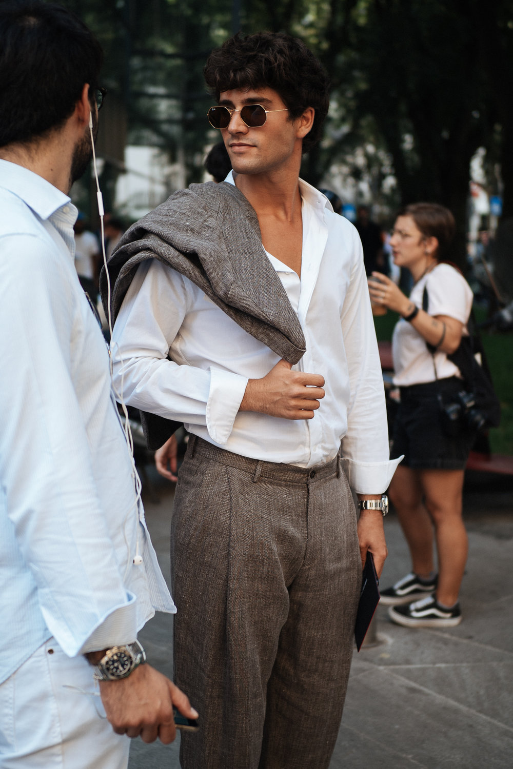 Heatwave at Milano Moda Uomo, captured on my OM-D E-M1 Mark II.