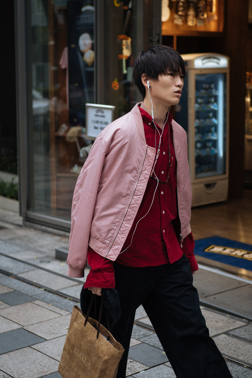 Pink bomber.