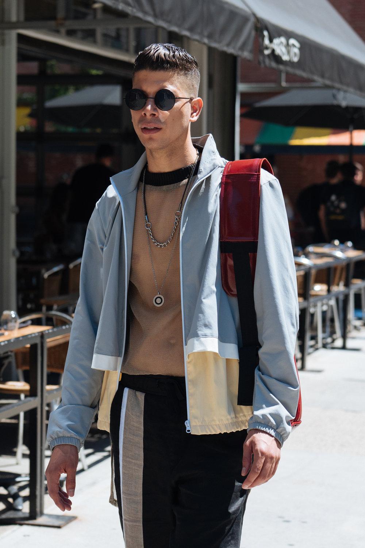 Mesh at  New York Fashion Week: Men's . Captured on my  Olympus OM-D E-M1 II with a  M.ZUIKO PRO 45mm F1.2 lens.