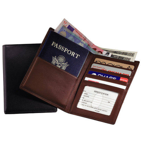 6216a13a008c Royce Leather 222 RFID Blocking Passport Currency Wallet
