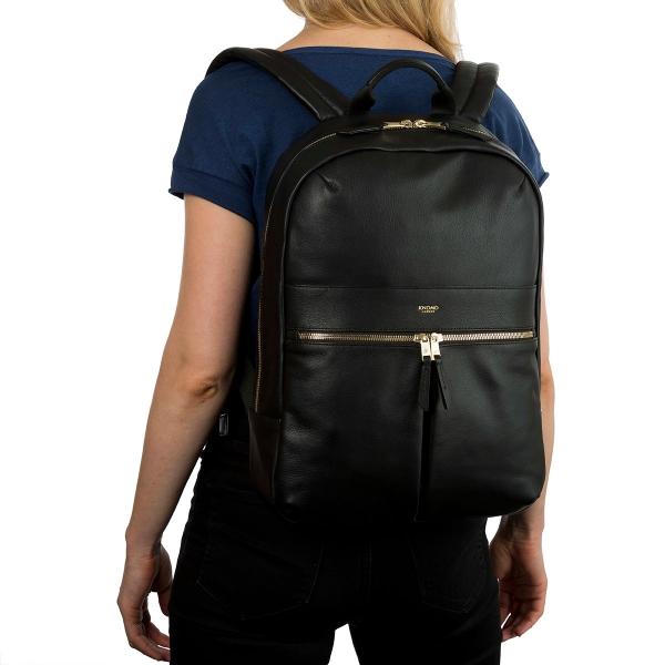 d9536e9c4a ... backpack women leather laptop bag leather minimalist shoulder bag  school bag  online store 6cd85 c7b3c Knomo 20-401 Beaux All Leather 14 ...