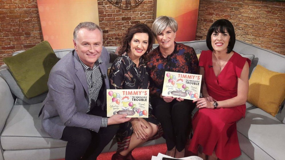 Sitting on the couch with Maura and Dathi and Author Niamh Ahern on the Today Show