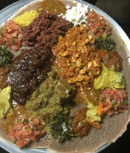 Vegetarian options at Buna