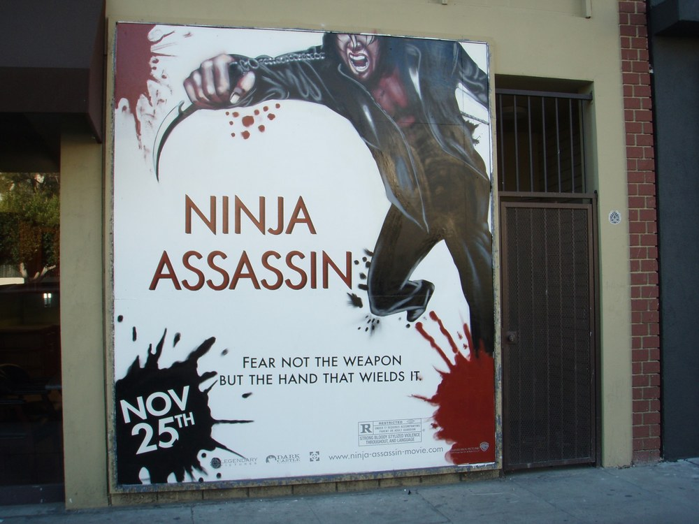 NINJA ASSASSIN MOVIE AD C. 2009