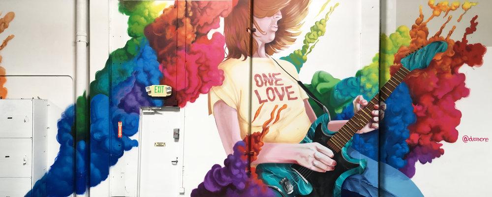 Guitar Center Mural