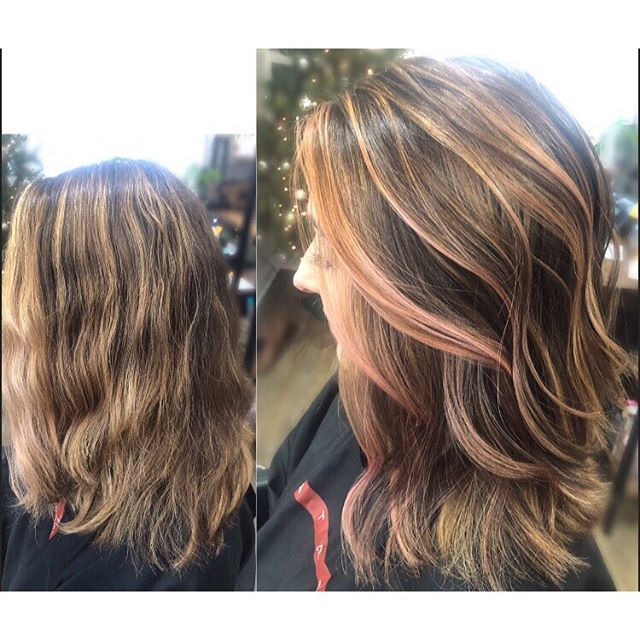 Getting in the holiday spirit with a dash of color and a fresh cut 🤗#alchemythesalonct