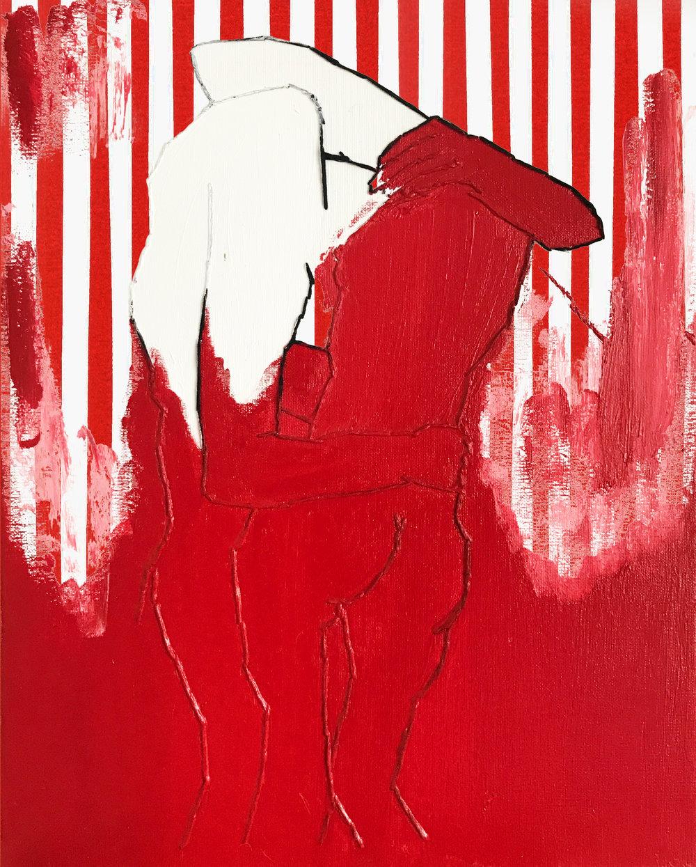 "Untitled (America, Please?) , 2016. 16"" x 20"", gouache on canvas."