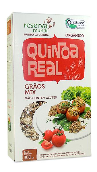 Mix de grãos de quinoa real grao mix mundo da quionoa