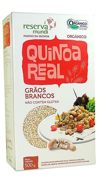 Grãos de quinoa brancos mundo da quionoa