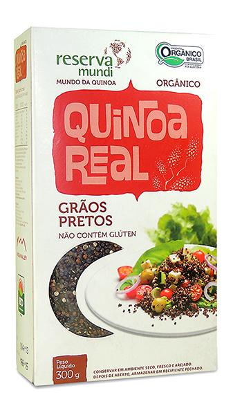 Grãos de quinoa pretos.