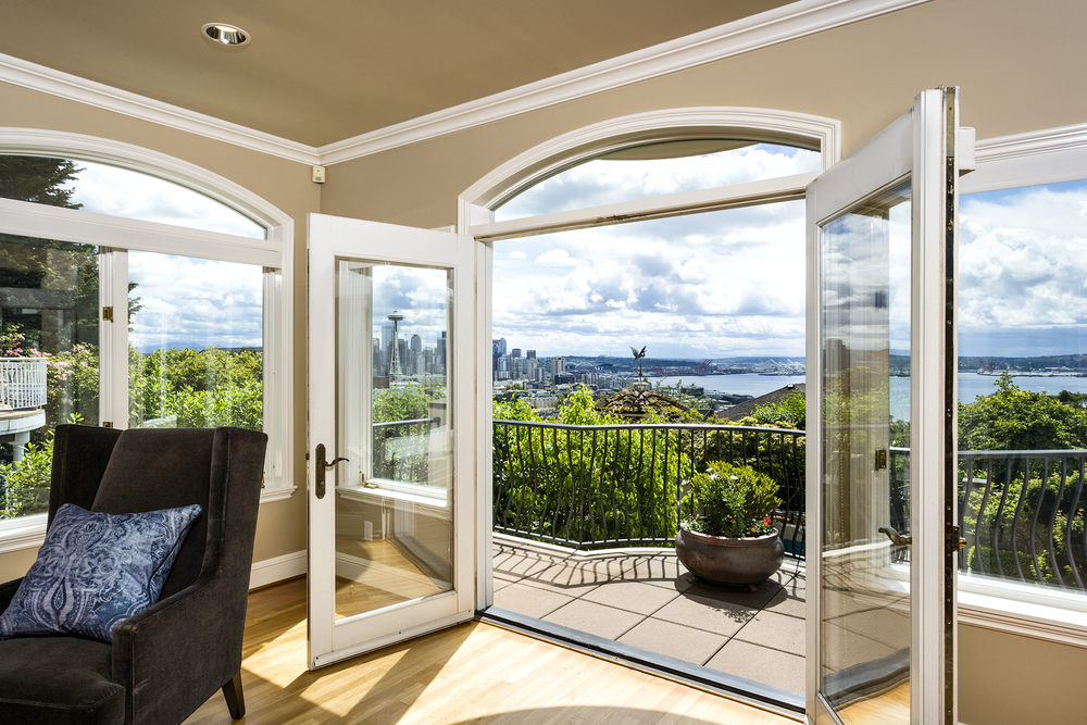 contemporary View Home List Price: $3,995,000 • queen anne