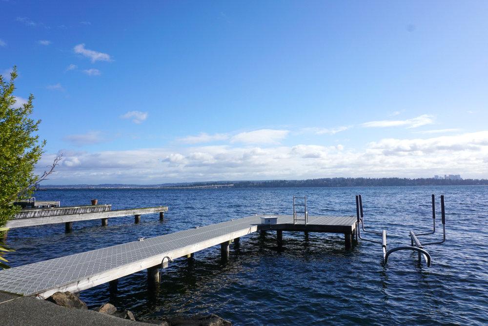 East-facing view of Lake Washington