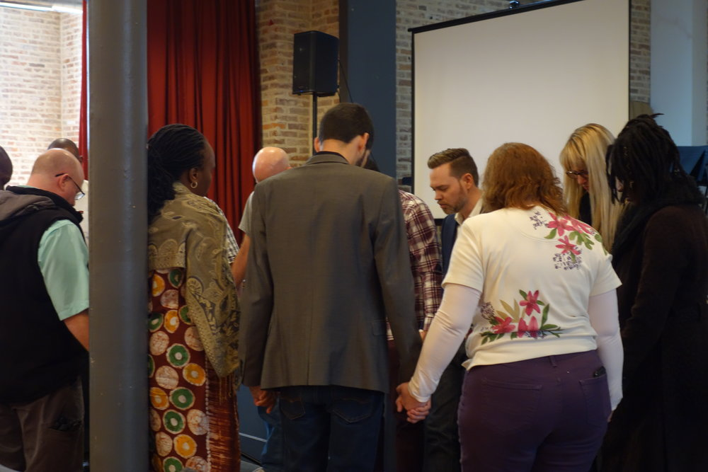 Prayer following our first public gathering