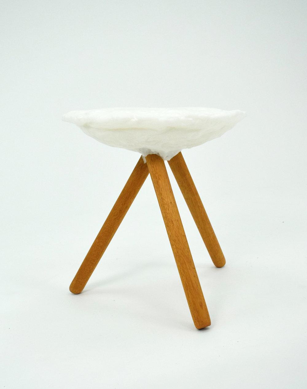 Glob Stool /   PCL Plastic (aka friendly plastic), mahogany