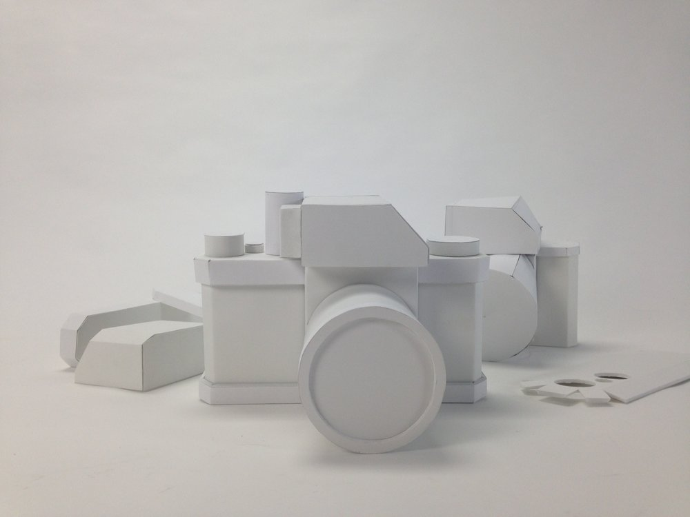 Model Making of a Camera /   foamcore