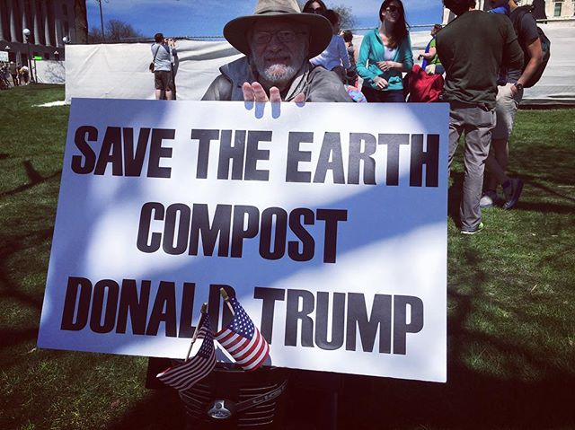 Not a bad idea . . . but I suggest we add his entire cabinet to the heap as well . . . @christopherpalbickiartist #motherearth #earthday2017 #imwithher #noalternativefacts #dumptrump #impeachtrump #climatechange #marchforscience #beautifulday #amen 🌎🌎🌎❤❤❤😃☀☀